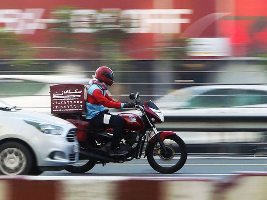 Stock delivery bikes food Dubai