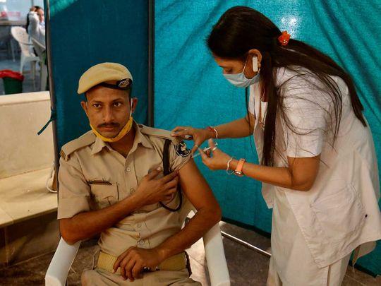 Policeman india vaccine