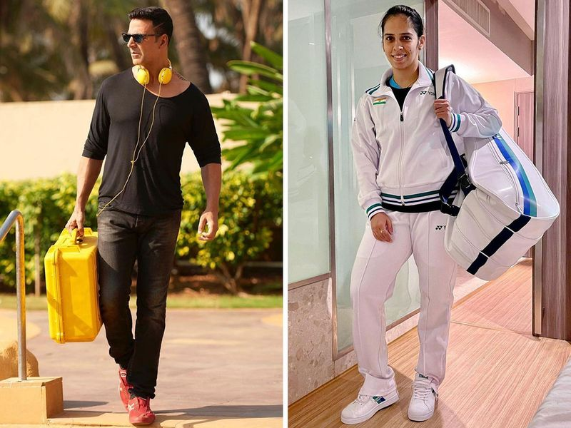 Saina Nehwal and Akshay Kumar