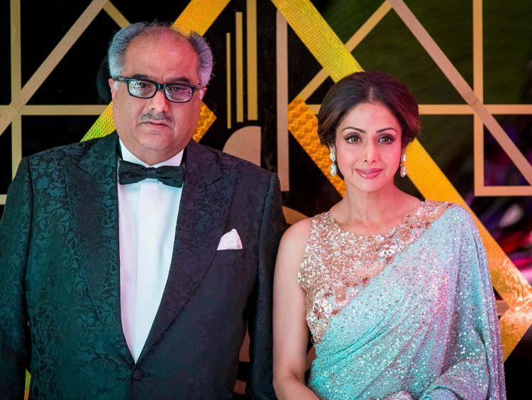 TAB Sridevi with Boney Kapoor-1612442601550