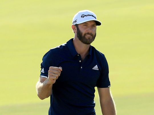 Dustin Johnson leads in Saudi going into the final day