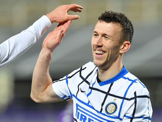 Ivan Perisic scored for Inter Milan against Fiorentina