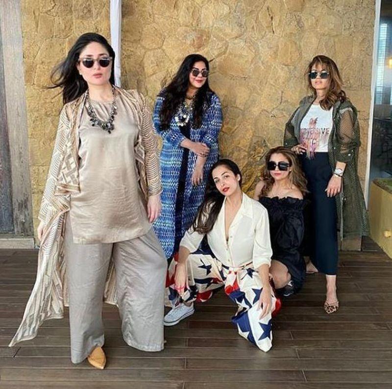 Kareena Kapoor Khan with Mallika Bhat, Malaika Arora, Amrita Arora, Natasha Poonawala