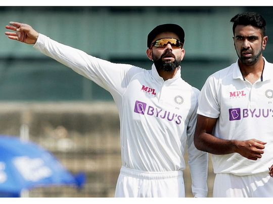 India cricket captain Virat Kohli and Ravichandran Ashwin during the first cricket Test against England