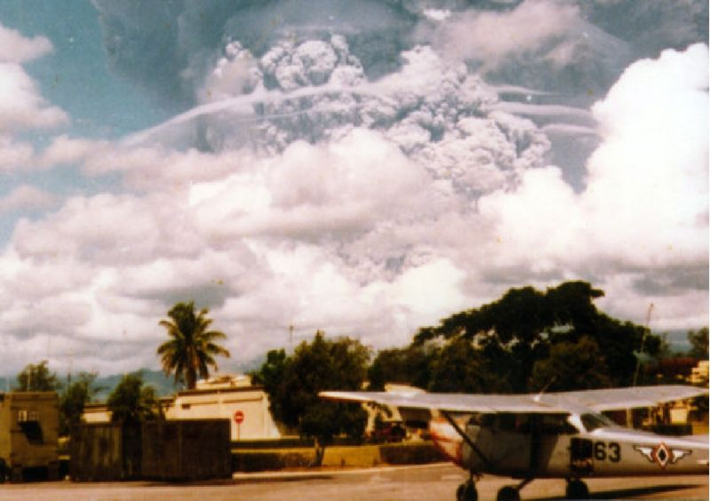 When the Mount Pinatubo erupted in the Philippines in 1991, the cloud of ash and sulphate particles deflected enough sunlight to cool the planet