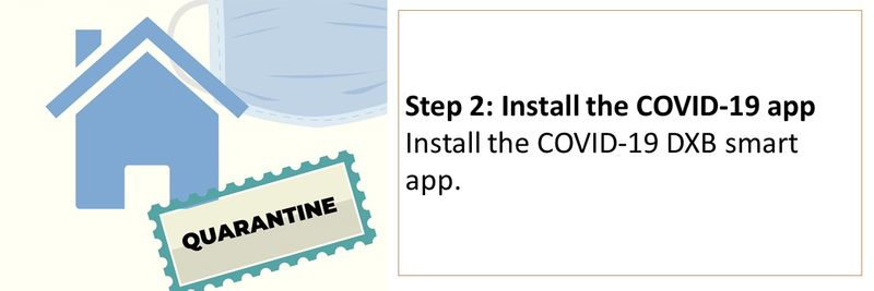 Step 2: Install the COVID-19 app Install the COVID-19 DXB smart app.