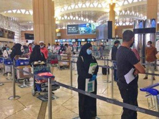 Indian expats at King Fahad International Airport in Riyadh