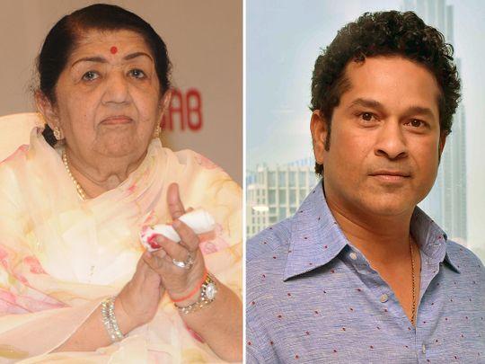 Sachin Tendulkar and Lata Mangeshkar