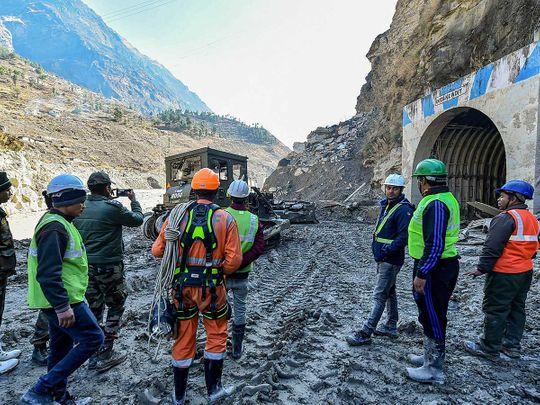 India glacier uttarakhand tapovan tunnel