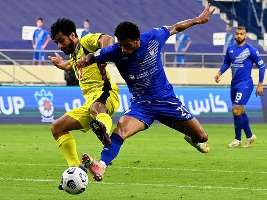 Kalba held off Al Nasr in the Arabian Gulf Cup semi-finals first leg