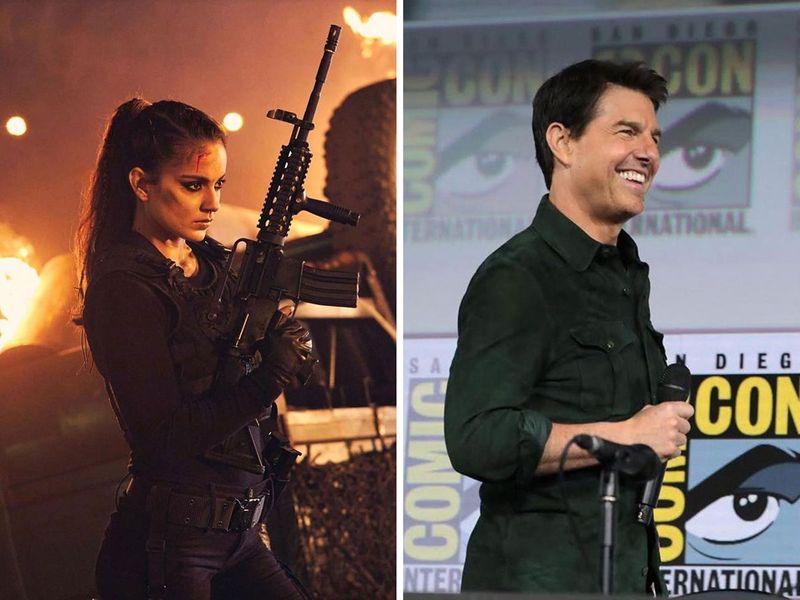 Kangana Ranaut and Tom Cruise