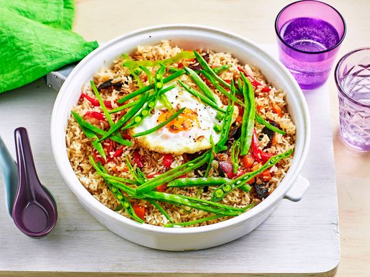 Chinese pulao with egg