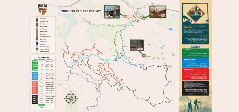 Hatta Hiking Map