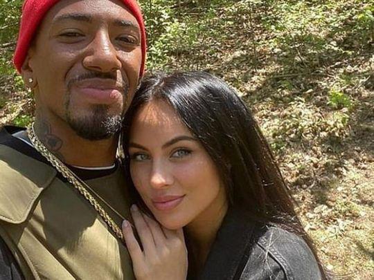 Jerome Boateng and ex-girlfriend Kasia Lenhardt.