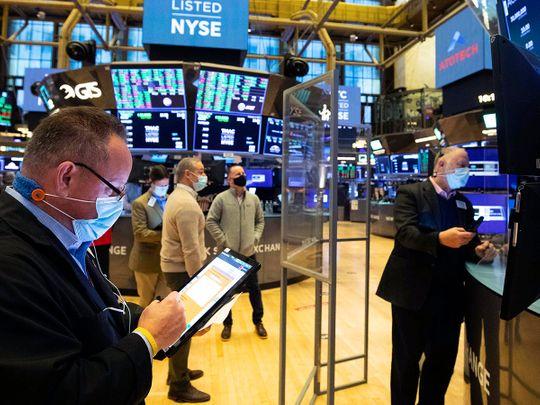 Stock NYSE trading Wall street