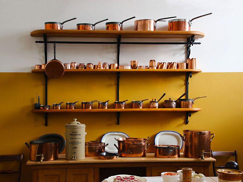 copper, saucepans
