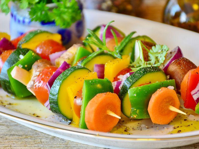 skewer, vegetables
