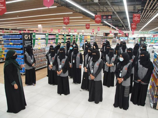 LuLu's all-woman staff at the new Jeddah outlet