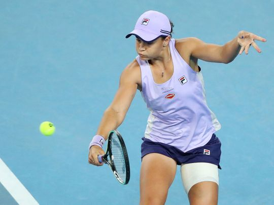 Ashleigh Barty is into the fourth round of the Australian Open