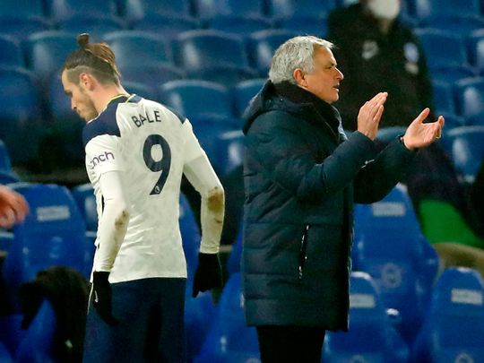 Gareth Bale and Jose Mourinho are not seeing eye-to-eye at Tottenham