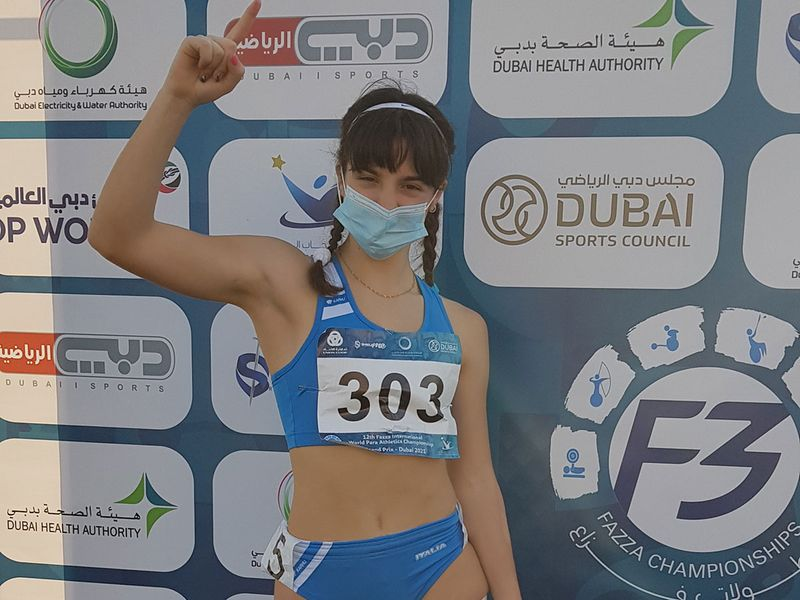 Italy's Ambra Sabatini set a world record on Day 3 in Dubai