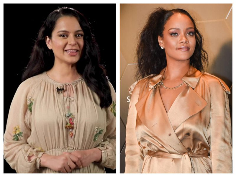 Kangana Ranaut and Rihanna