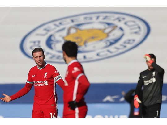 Liverpool collapsed to defeat against Leicester