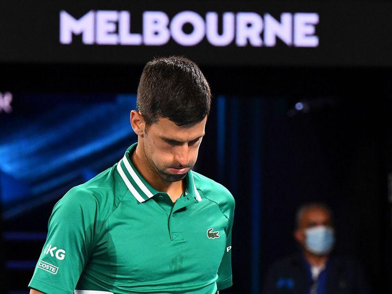 Novak Djokovic says he has a muscle tear at the Australian Open