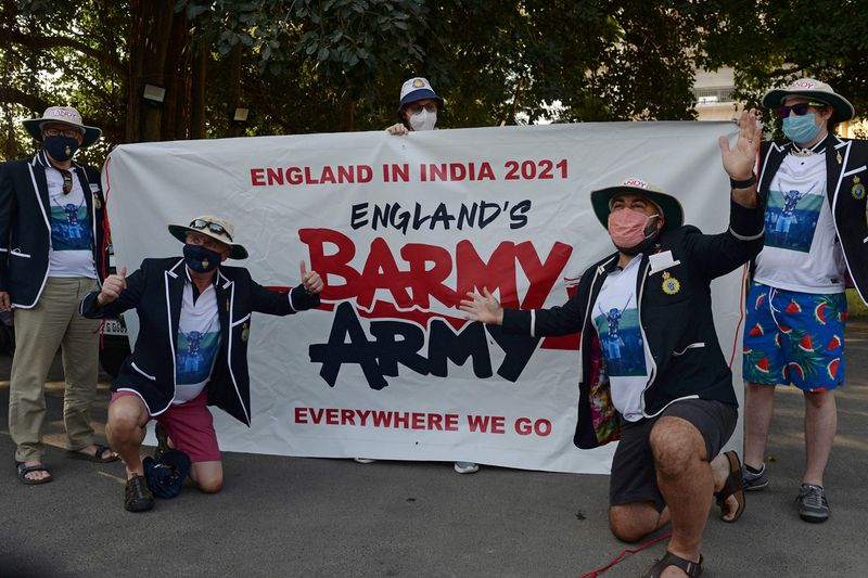 Cricket fans of Barmy Army
