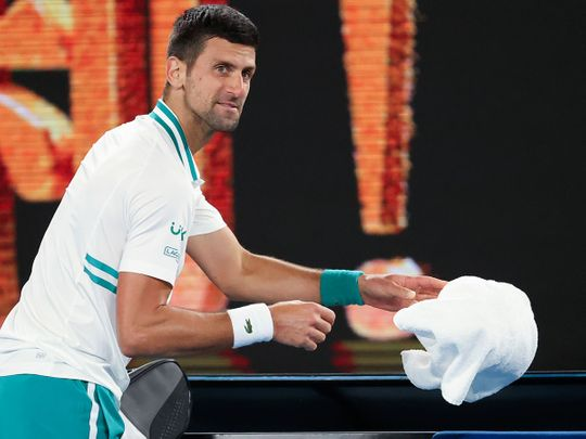 Novak Djokovic refuses to throw in the towel at the Ausgtralian open