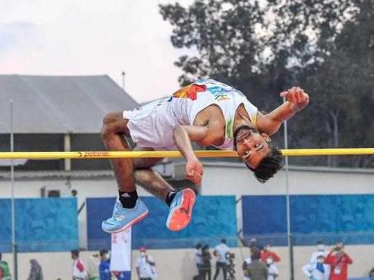 Praveen Kumar in action at the Fazza International Championships in Dubai