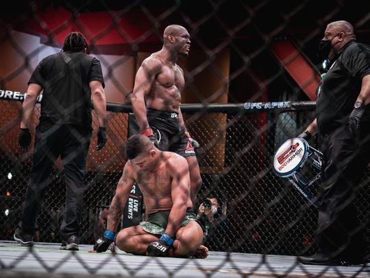 Welterweight champion Kamaru Usman dominated Gilbert Burns at UFC 258