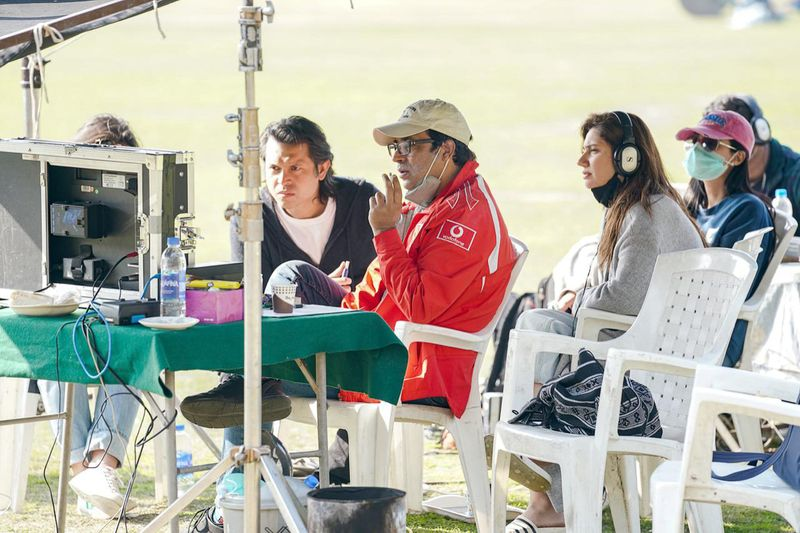 Producer Mahira Khan with director Adnan Sarwar