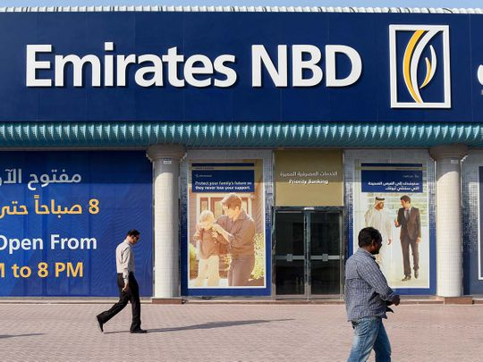 Stock Emirates NBD bank