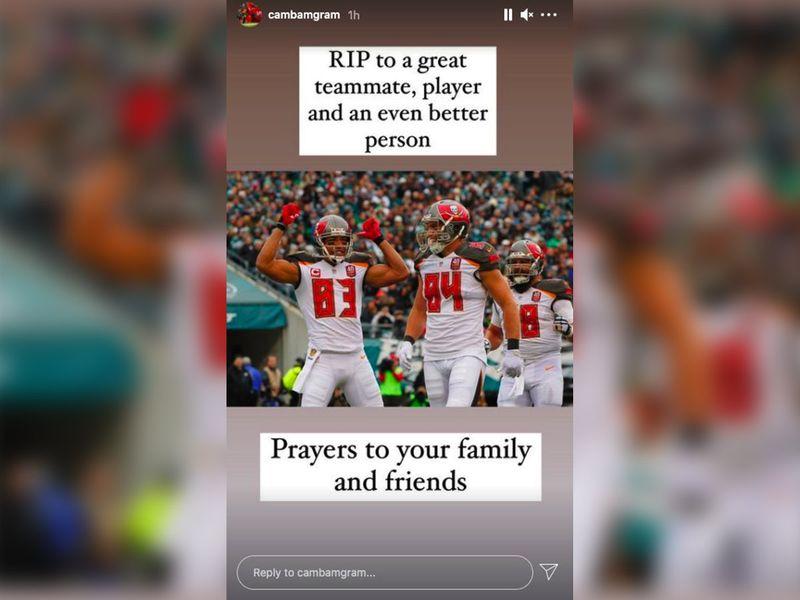 Cameron Brate mourns Vincent Jackson