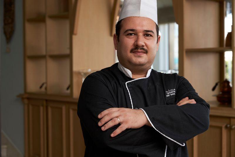 Chef Hasan Al Obaid, Sous chef at Qasar Halab Restaurant, Sharjah.
