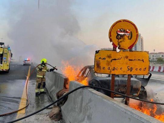 Dubai car fire