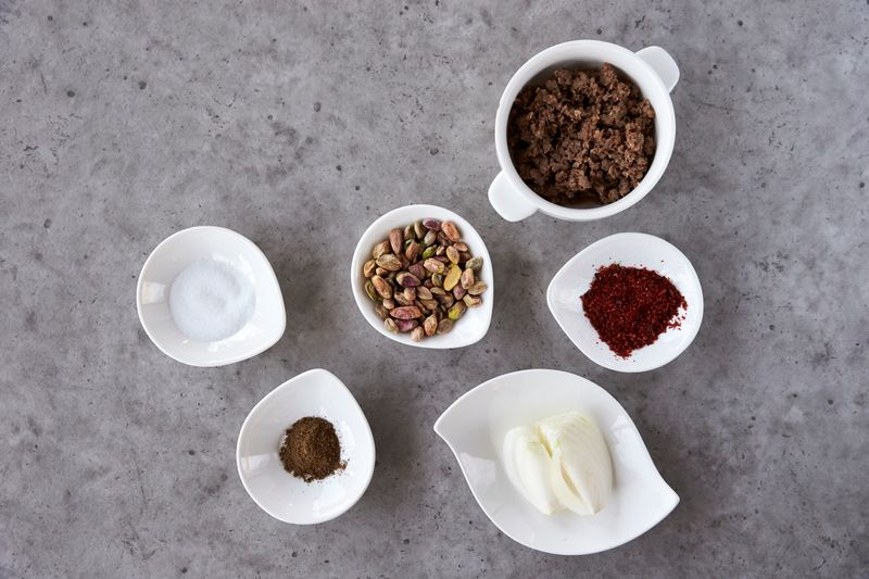 Ingredients for the kibbeh stuffing