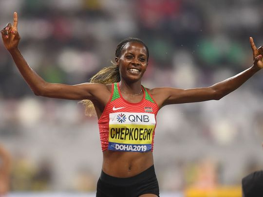 Kenya's Beatrice Chepkoech