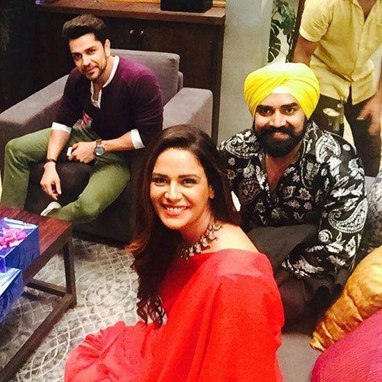Sandeep Nahar with Mona Singh and Piyush Sahdev