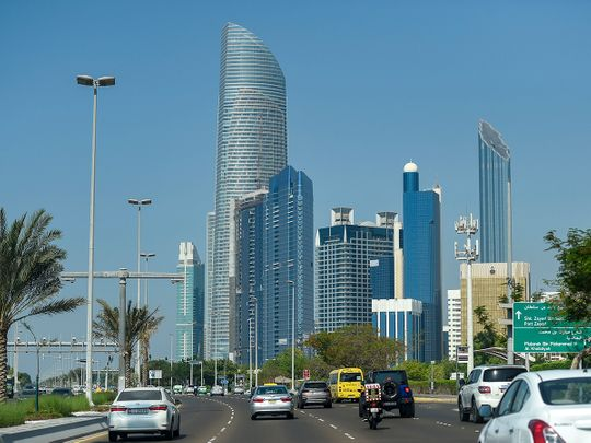 Stock Abu Dhabi skyline