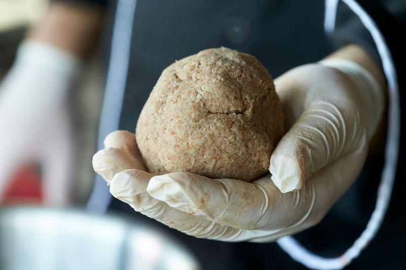 The dough for kibbeh