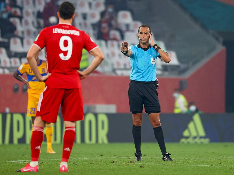 A moment to check VAR at the 2020 Club World Cup.
