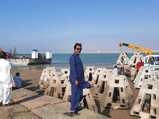 Concrete blocks pakistan artificial reef