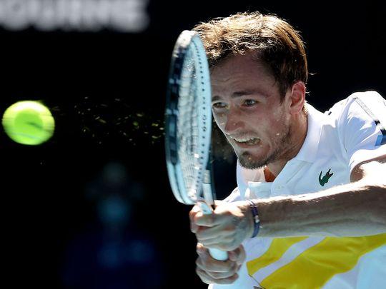 Daniil Medvedev defeated Andrey Rublev in the Australian Open