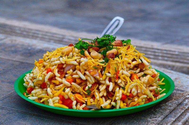 Indian street snack bhel puri