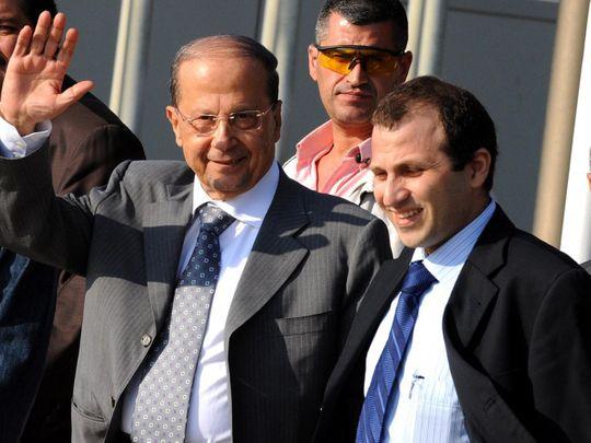 REG 210217 Michel Aoun and Gebran Bassil
