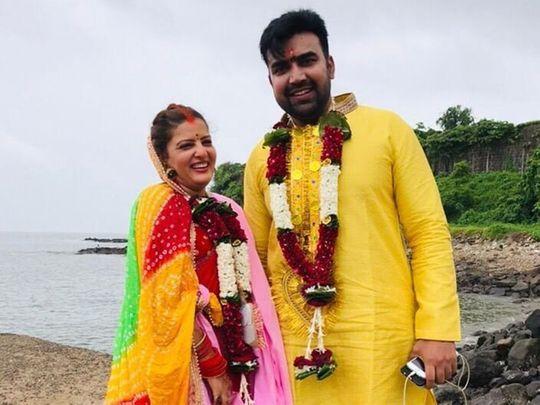 Sandeep Nahar and his wife Kanchan Sharma.
