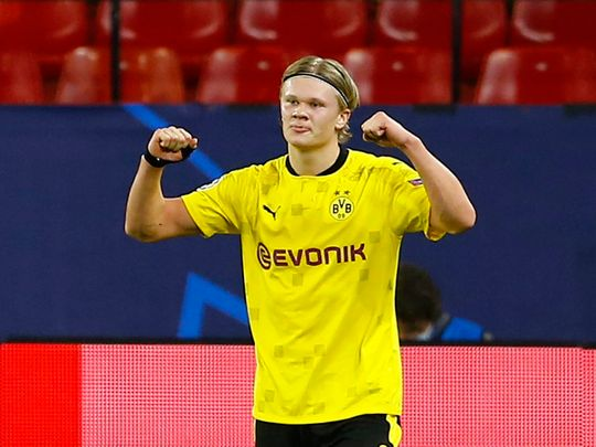 Champions League: Lethal Haaland puts Dortmund in driving seat against Sevilla