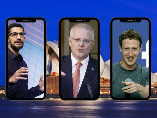 Google CEO FB CEO and Australian pm